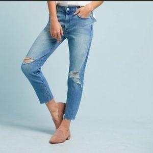 MOTHER The Sinner Fray Straight leg High Rise Jean